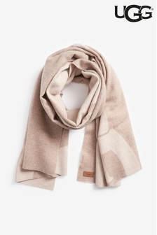 UGG® Natural Oversized Logo Scarf