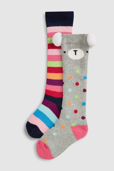Spot/Stripe Welly Socks Two Pack (Older)