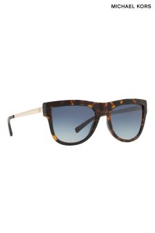 Michael Kors Tortoiseshell Metal Arm Sunglasses