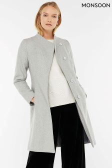 Monsoon Grey Catherine Workwear Coat