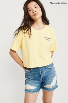 Abercrombie & Fitch Yellow Logo Tee