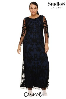 Studio 8 Black Jenna Tapework Maxi Dress