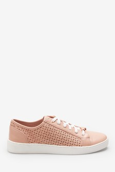 Laser Cut Lace-Up Trainers