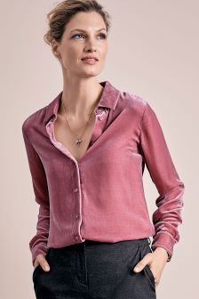 Pure Collection Rose Silk Velvet Shirt