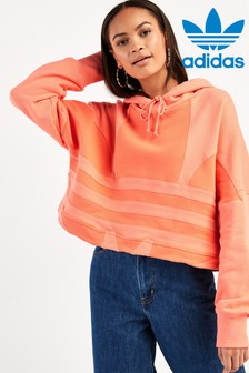 adidas Originals Coral Large Logo Cropped Hoody