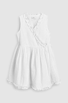 Cotton Wrap Dress (3-16yrs)