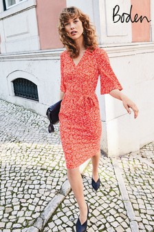 Boden Red Ines Dress