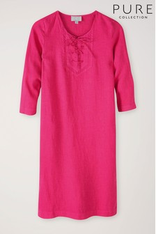 Pure Collection Linen Column Dress