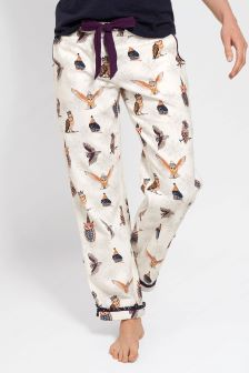 FatFace Ivory Night Owls Classic Lounge Pant