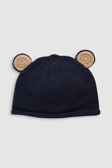 7b7f781bf8c Knit Bear Ears Hat (0mths-2yrs)
