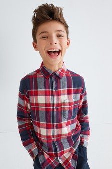 Check Cosy Jersey Lined Shirt (3-16yrs)