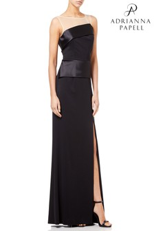 Adrianna Pappel Black Lola Jersey Long Dress