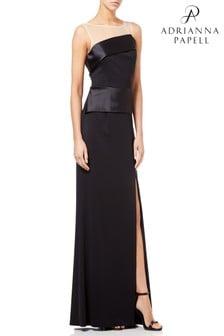 Черное длинное трикотажное платье Adrianna Papell Lola