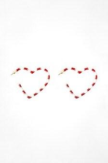 Candy Cane Hoop Earrings