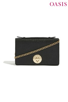 Oasis Black Etienne Cross Body Bag