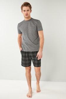 Check Cosy Short Pyjama Set