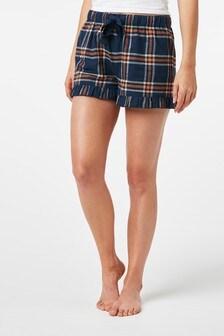Cotton Blend Flannel Shorts