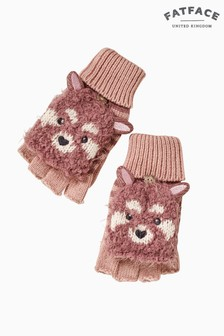 FatFace Purple Penny Panda Gloves