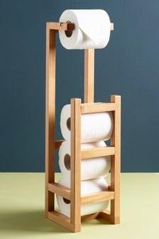 Soporte para papel higiénico en madera