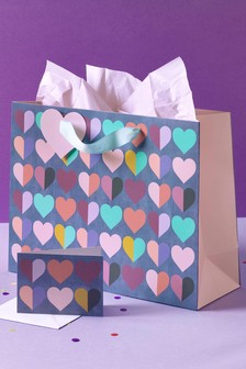 Multi Heart Gift Bag