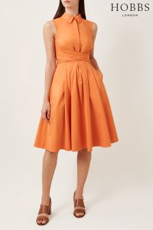 Hobbs Orange Alesha Dress