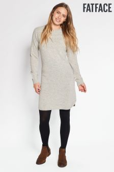 FatFace Grey Claire Cable Dress