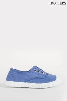 Trotters London Cornflower Plum Canvas Shoes