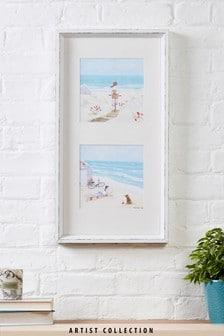 "Ramka z obrazem ""Plaża"" z kolekcji Artist autorstwa Hannah Cole"
