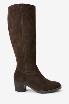 Forever Comfort® Block Heel Knee High Boots