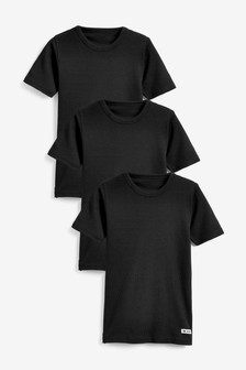 3 Pack Rib T-Shirts (1.5-16yrs)