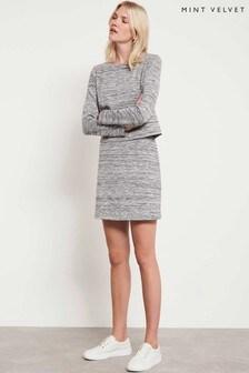 Mint Velvet Grey Layered Jersey Marl Dress