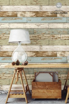 NuWalls Salem Wood Self Adhesive Wallpaper