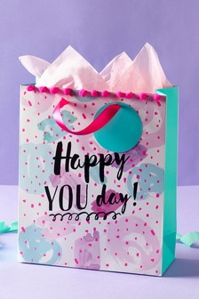 Pom Pom Birthday Gift Bag