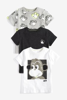 Monkey T-Shirts Three Pack (3mths-7yrs)