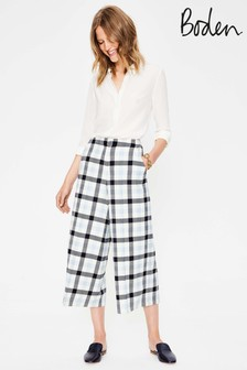 Boden Ivory British Tweed Culotte