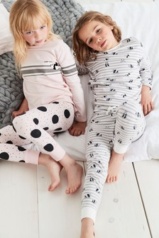 2 Pack Panda Print Pyjamas (3-16yrs)