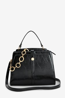 Chain Detail Tote Bag