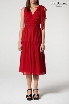 L.K.Bennett Red Abigail Dress