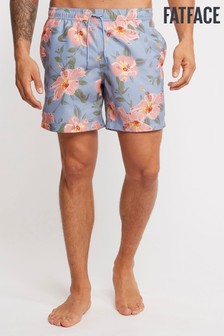 FatFace Blue Daymer Hawaiian Print Swimmers