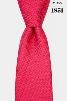 Moss 1851 Fuchsia Knit Texture Tie