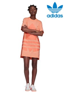 adidas Originals Coral Large Logo Tee Dress