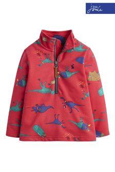 Joules Red Dale Half Zip Sweatshirt