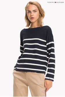 Tommy Hilfiger White Sandrah Boat Sweater
