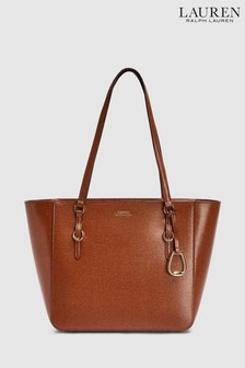 Polo Ralph Lauren® Tan Leather Shopper Bag