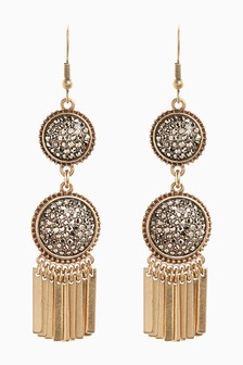 Sparkle Tassel Drop Earrings