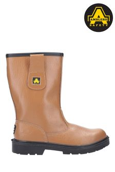 Amblers Safety Tan FS124 Water Resistant Pull-On Safety Rigger Boots