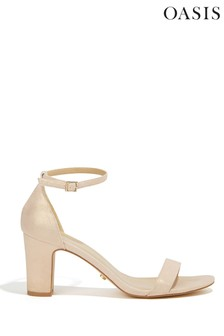 Oasis Gold Bridesmaid Two Part Block Heel