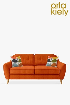Orla Kiely Orange Laurel Medium Sofa