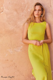 Phase Eight Lime Tamara Asymmetric Hem Dress