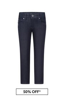 Boys Blue Denim Cotton Jeans